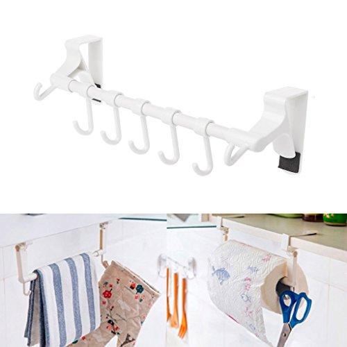 slylive Küche Papier Roll-Organizer zum Aufhängen–mit Haken-Regal-Halter