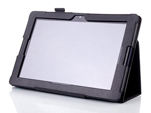 WiTa-Store Schutzhülle für Lenovo IdeaTab A10-70 10.1 Zoll Smart Slim Case Book Cover Stand Flip A7600-H F L (Schwarz) Neu