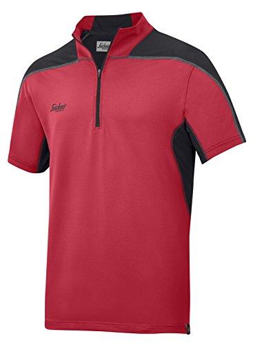 Snickers AVS Polo Shirt, Body mapp Gr. S grau-schwarz chili-schwarz