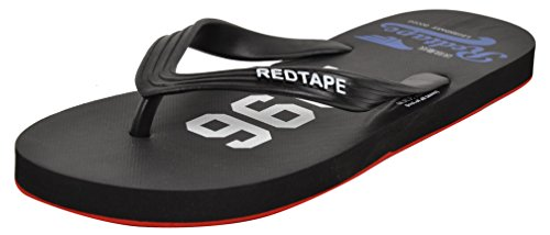 Red Tape Menu0027s Black Flip Flops And House Slippers U2013 8 UK/India (