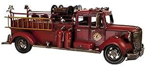 6Y1472 Clayre & Eef - Decorazione - Modello - Veicolo - Vigili del fuoco - Rosso ca. 51 x 16 x 19 cm