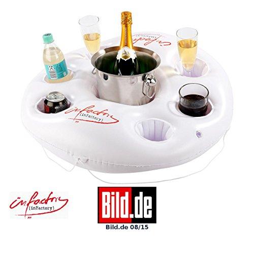 Preisvergleich Produktbild infactory Aufblasbarer Getränkehalter im coolen Rettungsring-Design
