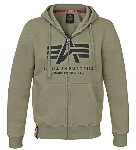 Alpha Ind. Basic Zip Hoody oliv - XXL