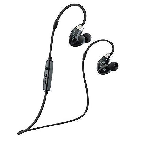 Casque sans fil, Mpow joints circulation de l'air Sports Bluetooth 4.0Dos casques Bluetooth sans fil Écouteurs avec réduction du bruit CVC 6.0et la technologie Apt-X pour iPhone