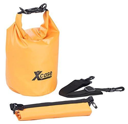 Xcase Overboard Beutel: Wasserdichter Packsack, strapazierfähige Industrie-Plane, 5 l, orange (Waterbags)