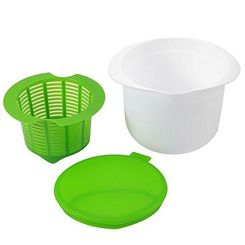 Fdit Käsebereiter Frischkäsezubereiter Kit PP Mikrowelle DIY Frischkäse Maschine Dessert Gesunde Container Küche Werkzeug