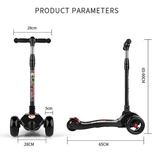 ZLL Calcio pieghevole pieghevole per monopattino-scooter per 150Kg, bambini regolabili per ragazzi di 2-14 anni, ruota lampeggiante e freno posteriore, non elettrici