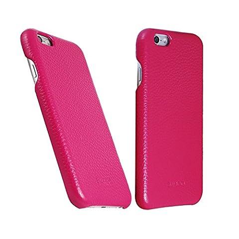 Original SUMGO echt Leder iPhone 6 / 6s Schutzhülle Hülle Hard Cover Back Case Tasche - in Pink