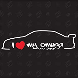 I love my Opel Omega Evo 500 - Sticker , Bj 90-91