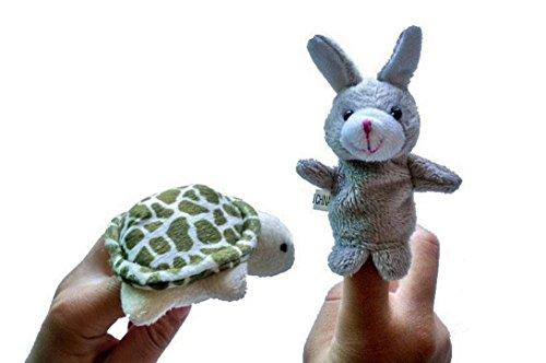 HappyCherry - Handpuppe Fingerpuppe Handspielpuppe Fingerpuppen-Set Fingerpuppen-Handschuh - Interessante Geschichte