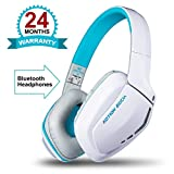 #10: (CERTIFIED REFURBISHED) Kotion Each B3506 Over the Ear Foldable Wireess Bluetooth Headphones with Microphone for PS4, PC, Mac and Smart Phones - V4.1 Edition (White/Blue)