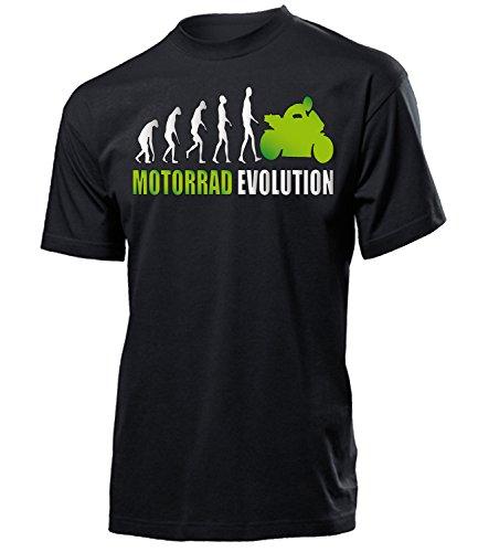 Motorrad Evolution 539 Motorsport Shirt Tshirt Fanartikel Fanshirt Männer turniershirt Shop Sportbekleidung Herren T-Shirts Schwarz Aufdruck Grün XL