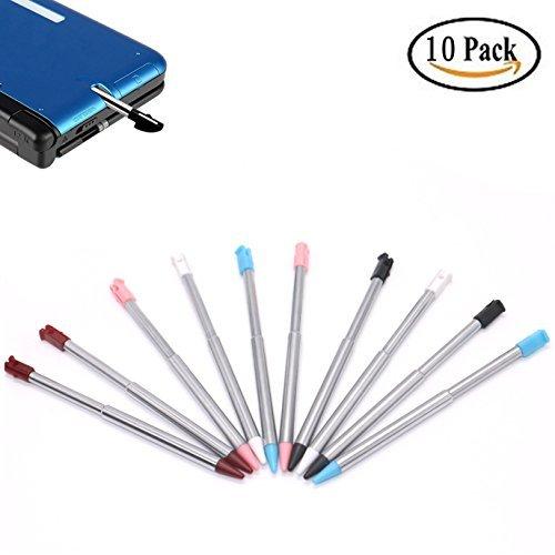 IDS 10Stück Retractable Ersatz Metall Stylus Touch Pen, Kompatibel mit Nintendo 3DS, 3DS XL, 3DS LL