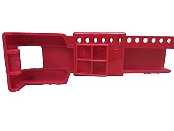 Aktion Safety Butterfly Valve Lockout Device AK-BFL-16A, Red (Pack of 2)