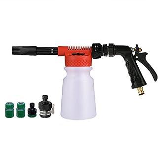 Allcaca Car Foam Wash Gun 900ML Car Wash Lance Bottle Adjustable Foam Blaster Low Pressure Snow Foamer Car Cleaner, Red