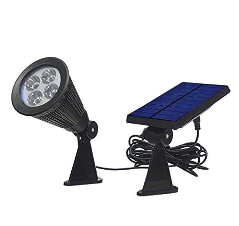 Katomi 200 Lumens IP44 4LED Solar Spotlight Waterproof Outdoor Wall