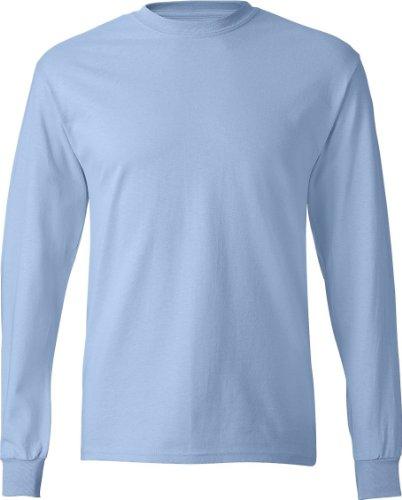 Hanes 6.1 OZ. Tagless ComfortSoft Long Sleeve T-Shirt Light Blue