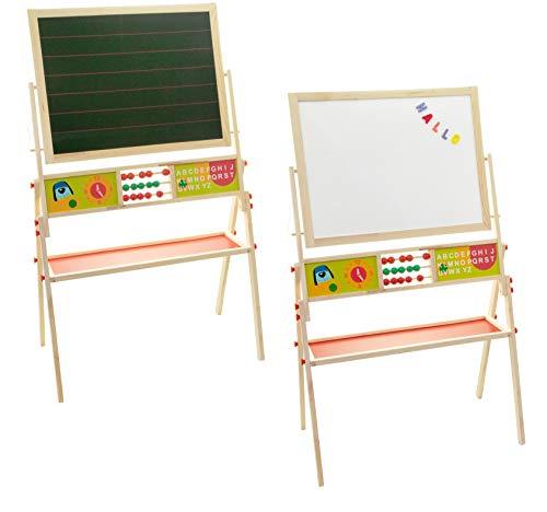 Spiel AG Standtafel für Kinder Schultafel mit 2 Seiten Magnettafel + Kreidetafel