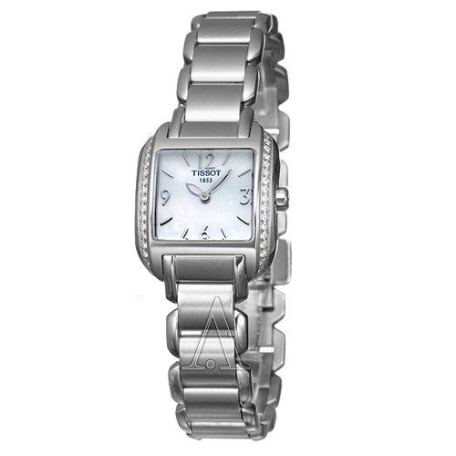 Tissot T-Wave T 02138582 - Reloj para mujeres, correa de acero inoxidable color plateado