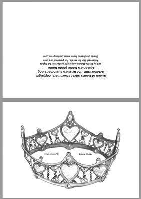 Corona, Regina di Cuori siiver tiara art by Kristie Hubler by Kristie Hubler Lynn - Tiara Kit Craft