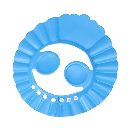 ounona Kinder Dusche Cap Baden Haar Waschen Schutz Hat Shampoo Schild für Kinder Babys mit Ohr Schutz Pads (blau)