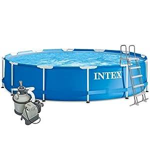 Intex 457x122 komplettset mit intex sandfilteranlage 4m for Pool 457x122 mit sandfilteranlage