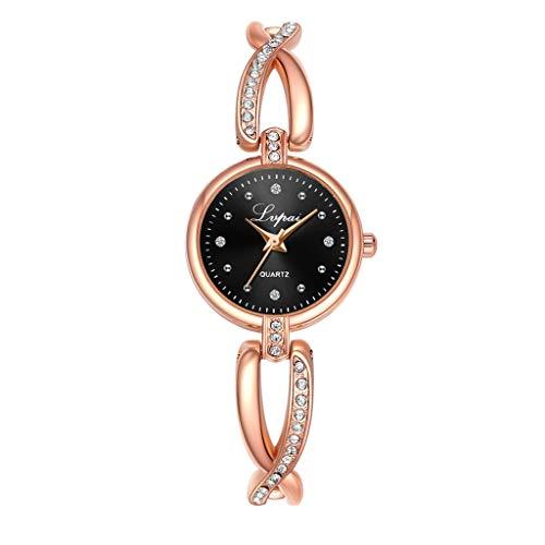 Damen Uhren Analog Quartzuhr Luotuo Europa und Amerika Weiblich Einfach Freizeit Mode Klein Exquisit Dekoration Edelstahl Armbanduhr Geschäft Freizeit Watch Handschmuck Geschenk