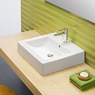Gala wave – Lavabo wave 50x45cm con rebosadero blanco