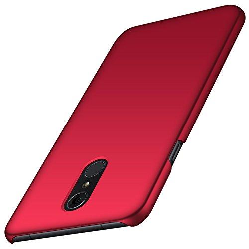 anccer LG Q7 Hülle/ Q7 Plus Hülle/ Q7 Alpha Hülle, [Serie Matte] Elastische Schockabsorption und Ultra Thin Design für LG Q7/ Q7 Plus/ Q7 Alpha (Glattes Rot)