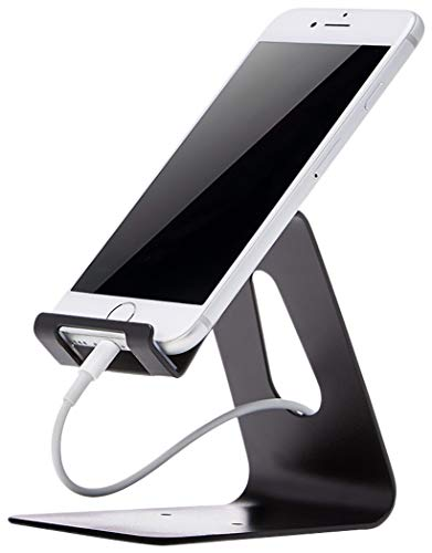 AmazonBasics - Soporte para teléfono móvil iPhone y Android | Negro
