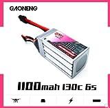 FancyWhoop GNB 1100mAh 6S LiPo Batterie 22,2V XT60 130C Stecker für RC FPV Racing Drone Quadcopter