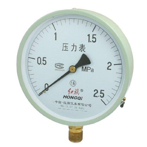 0–2,5MPa 20mm Gewinde Durchmesser rund Face Wasser Luft Manometer (Luft Runde)