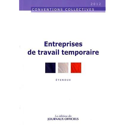 Entreprises de travail temporaire - Accords professionnels - 9ème édition - 2011 - Brochure 3212