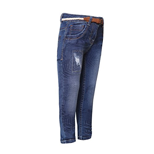 826959cf3f Tales   Stories Girls Printed Dark Blue Jeans - Fashion Exclusives