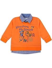 The Essential One - Bébé Enfant Garçon 2 en 1 Chemise et Pull / Sweat-Shirt - Orange - EOT391