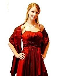 Taft-Stola / Schultertuch / Schal, zum Abendkleid oder Brautkleid, ca 150 x 50 cm, leichter Glanz, leicht crinkelig