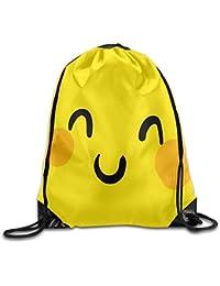 Preisvergleich für MaJack Lustige Emoji-Sporttasche mit Kordelzug für Reisen, Schulrucksack