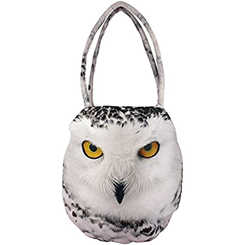 Digital Graphic Owl indiano Handbag - stampa all-over - Poliestere Dupion Faux Seta - 12 x 12 x 24 pollici