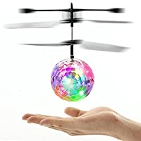 Price comparsion for Gemini_mall® Flying Ball, Kids Toys Helicopter Mini Drone Magic RC Flying Toys with Shinning LED Lights Fun Gadgets for Boys Girls Kids Teenagers Adults