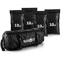 Klarfit Force Bag Power Bag Sandbag 4 Sacchi Sabbia 4,5 da kg Totale 18 kg