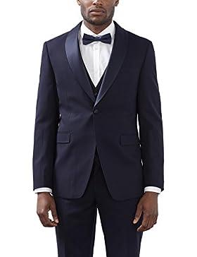 ESPRIT Collection Herren Anzugjacke Blau