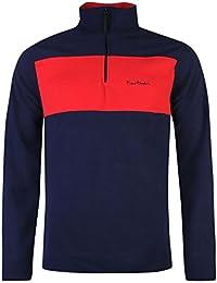 Pierre Cardin Hommes 1/2 Zip Top Haut Sport Sweat Polaire Jumper Manche Longue