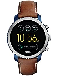 FOSSIL Gen 3 Smartwatch Q Explorist Luggage Leather/Men's Smartwatch Compatible with Android and iOS - Activity Tracker, Smartphone Notifications, Water resistant