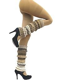 Damen-Stulpen mit Wolle sand