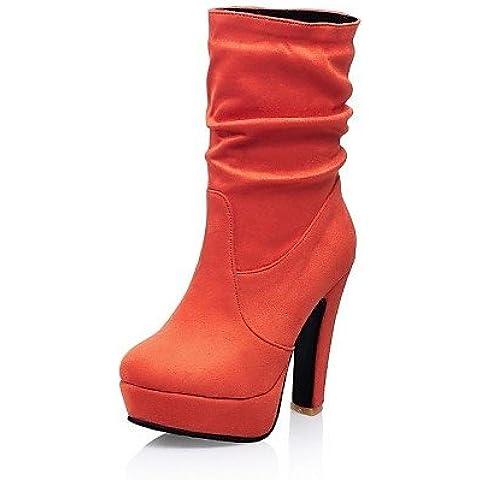 Ei&iLI rotondi stivali a metà polpaccio affollano donne grosso della