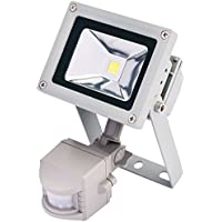 Draper 64522 10 W Wall Mount COB Lamp with Passive Infra Red Detector