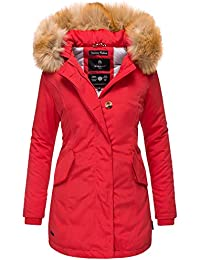 Marikoo Damen Winter Jacke Stepp Parka Mantel Winterjacke warm gefüttert  Kunstpelz KARMAA XS-XXL da8b3744db