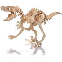TOOGOO(R)Puzzle Jigsaw 3D in Legno Dinosauro per Bambini Gioco Educativo