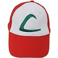 Pokemon ASH KETCHUM Trainer Costume Cosplay Baseball Hat Cap Summber Sun Kids Adjustable Up to 61CM