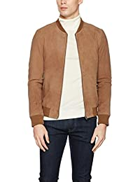 Selected Shnmark Suede Bomber Jacket Noos, Blouson Homme